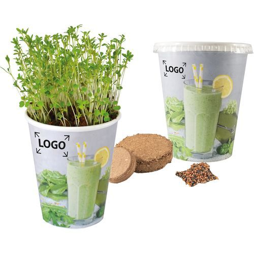 Green Smoothie Cup, Green Smoothie Kräutermischung, 1-4 c Digitaldruck inklusive (bunt) (Art.-Nr. CA297503)
