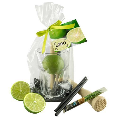Caipirinha-Set, 1-4 c Digitaldruck inklusive (grün) (Art.-Nr. CA757114)