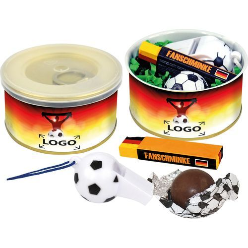 Fußball-Fan-Dose, Ø 73 x 38 mm, 1-4 c Digitaldruck inklusive (Art.-Nr. CA794096)