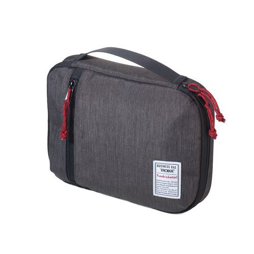 TROIKA Kabeltasche BUSINESS TECH POUCH (anthrazit / schwarz) (Art.-Nr. CA238813)