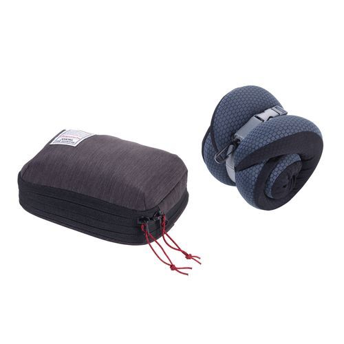 TROIKA Nackenkissen BUSINESS TRAVEL PILLOW (grau / schwarz) (Art.-Nr. CA243783)