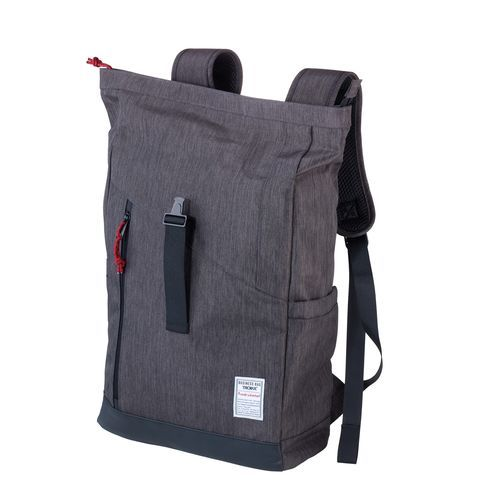 TROIKA Roll Top Rucksack BUSINESS ROLL TOP (anthrazit, schwarz) (Art.-Nr. CA653897)
