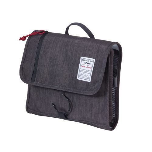 TROIKA Reise-Kulturtasche BUSINESS WASHBAG (anthrazit / schwarz) (Art.-Nr. CA676913)