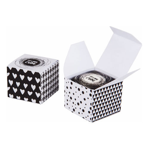 Lipcare Cube Box - Individuell bedruckte Faltschachtel mit Lipcare Cube inkl. Doming (Farbe Tiegel: transparent) (Art.-Nr. CA606951)
