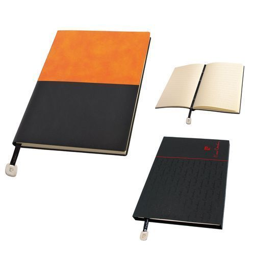 REPORTER Notizbuch A5, orange/schwarz (orange) (Art.-Nr. CA228495)