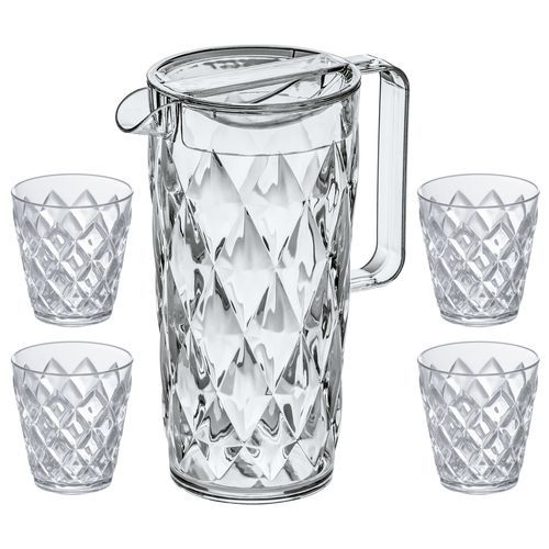 Crystal Kanne 1, 6l mit 4 Becher (crystal clear) (Art.-Nr. CA088714)