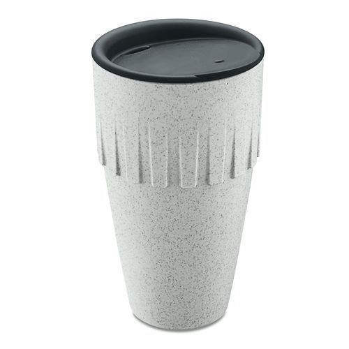 Connect Becher Latte 400ml mit Deckel (organic grey) (Art.-Nr. CA608732)