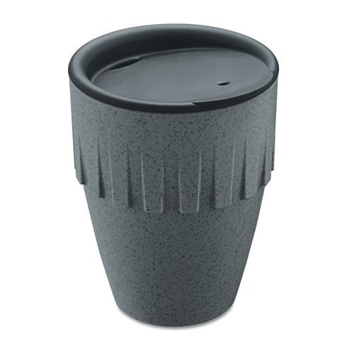 Connect Becher Cappuccino 300ml mit Deckel (organic deep grey) (Art.-Nr. CA699754)