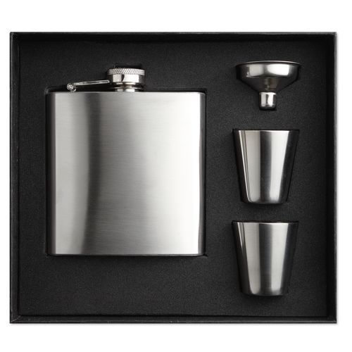 Slimmy Flask Set Flachmann (silber matt) (Art.-Nr. CA043569)