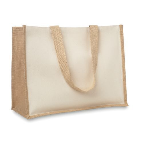 Campo De Fiori Jute/Canvas Shopper (beige) (Art.-Nr. CA085145)