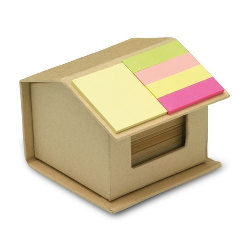 Notizzettelbox 'RECYCLOPAD' (Art.-Nr. CA966399) - Box aus recycelter Pappe in Form eines...