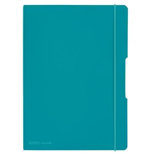 Herlitz Notizheft my.book flex® DIN A4 PP Kunststoff 2 x 40 Carribean Turquoise (Art.-Nr. CA066670) - Herlitz Notizheft my.book flex®. Da...