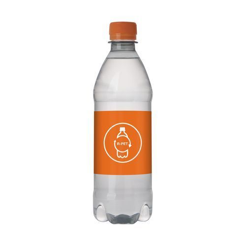 Quellwasser R-PET Flasche [500 ml] (orange) (Art.-Nr. CA061228)