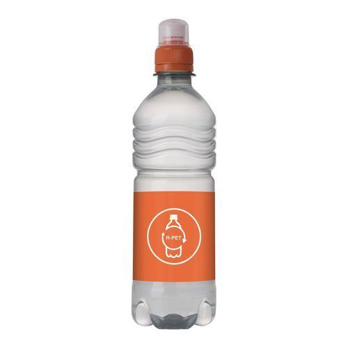 Quellwasser R-PET Flasche [500 ml] (orange) (Art.-Nr. CA324733)