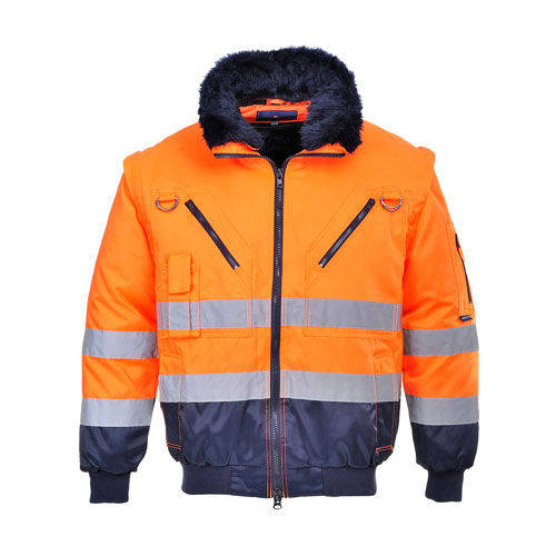 Hi-Vis 3in1 Pilotjacke /marine Gr. S - 4XL (orange / marine) (Art.-Nr. CA493729)