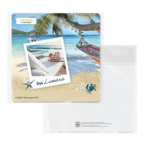 POLYCLEAN rPET Displaytuch 15x15 cm im Cellulosebeutel, All-Inclusive-Paket (individuell) (Art.-Nr. CA199057)