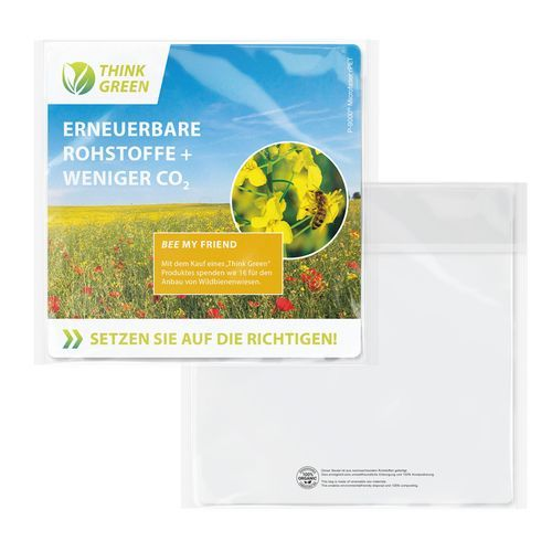 POLYCLEANrPET Displaytuch 18x18cm imCellulosebeutel, All-Inclusive-Paket (individuell) (Art.-Nr. CA692611)