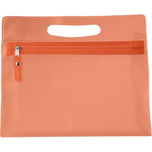 Kulturtasche 'Panorama' aus PVC (orange) (Art.-Nr. CA002702)