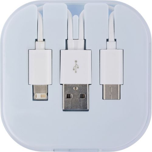 USB Ladekabel-Set 'Donau' 4in1 (kobaltblau) (Art.-Nr. CA717348)
