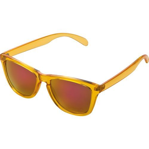 Nerd Brille mit Spiegelglas Dubai (orange) (Art.-Nr. CA020197)