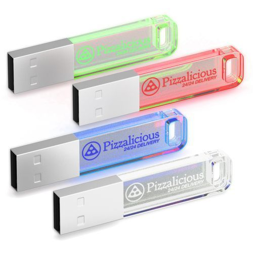 USB Stick Iron Crystal Candy 2 GB (blau) (Art.-Nr. CA033677)