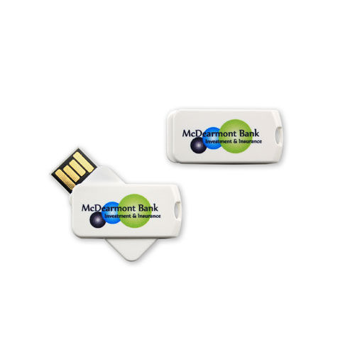 USB Stick Smart Twist 2 GB (weiß) (Art.-Nr. CA204663)