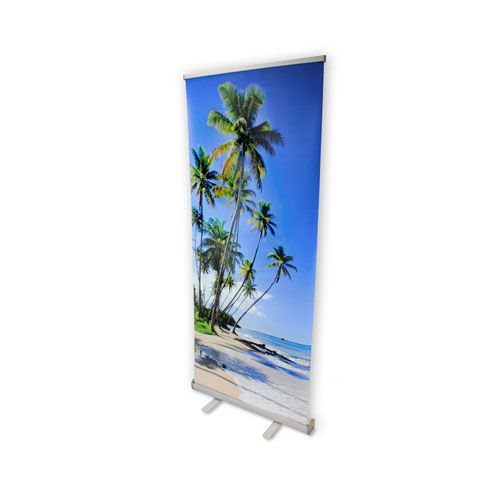 Rollup Banner Excellent 85 x 200 (silber) (Art.-Nr. CA923819)