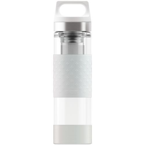 Iso-Trinkflasche Hot & Cold Glass WMB [0.4 L.] inkl. Gravur (white) (Art.-Nr. CA685513)