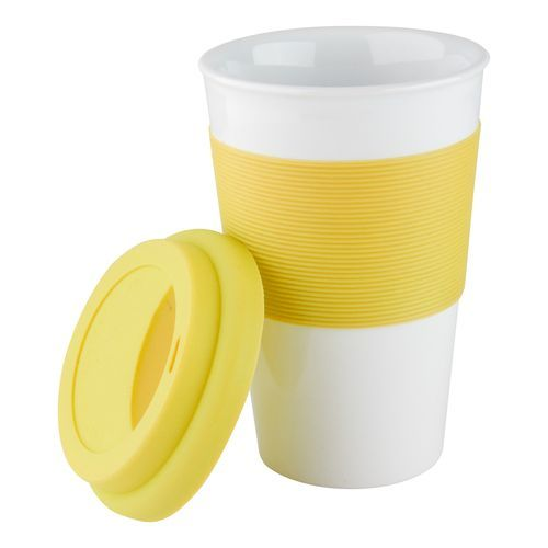 Coffee-To-Go-Becher Soft Touch (gelb) (Art.-Nr. CA072315)