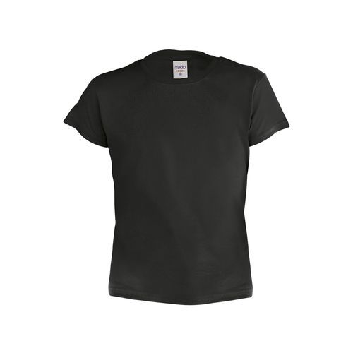 Kinder Farbe T-Shirt HECOM (black) (Art.-Nr. CA008346)
