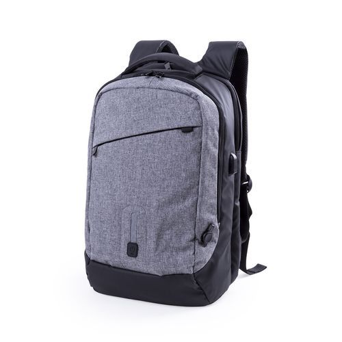 Power Bank Rucksack Briden (grau) (Art.-Nr. CA282258)