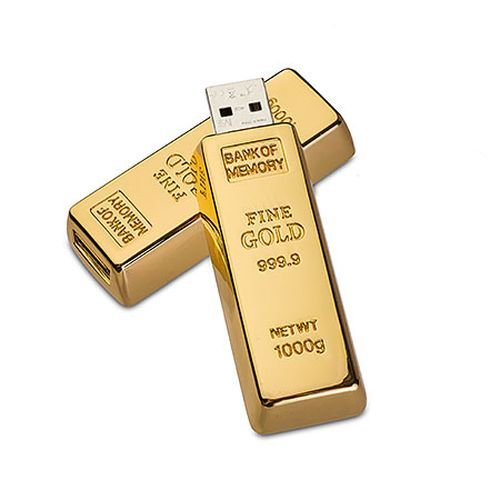 USB Stick Goldbarren 64 GB (gold) (Art.-Nr. CA017876)