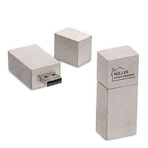 USB Stick Major Square 8 GB grau (grau) (Art.-Nr. CA047743)
