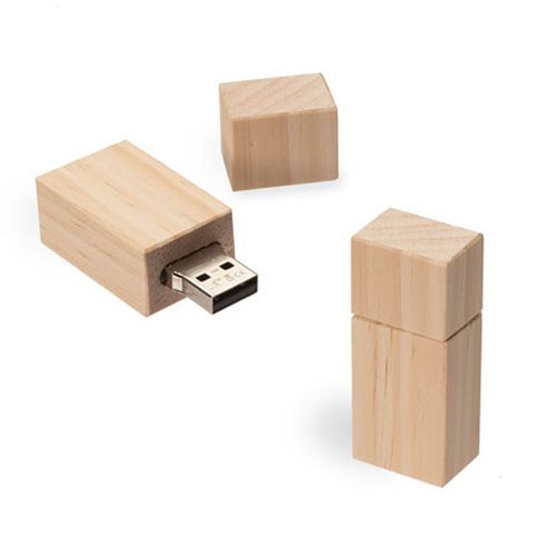 USB Stick Timber Kiefer 8 GB braun (braun) (Art.-Nr. CA106071)