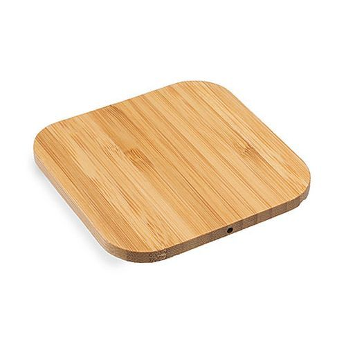 Wireless Charger Bamboo Ecki - Bambusholz (Bambusholz) (Art.-Nr. CA436204)