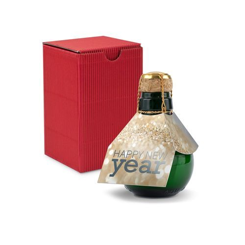 Origineller Sekt Happy New Year - Karton Rot, 125 ml (Geschenkbox In Rot) (Art.-Nr. CA175210)