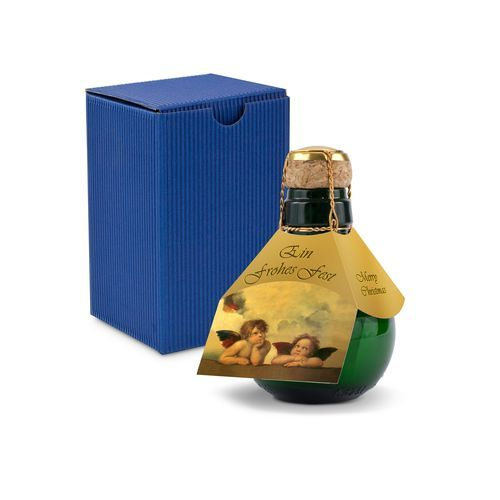 Origineller Sekt Raffael - Karton Blau, 125 ml (Geschenkbox In Blau) (Art.-Nr. CA690247)