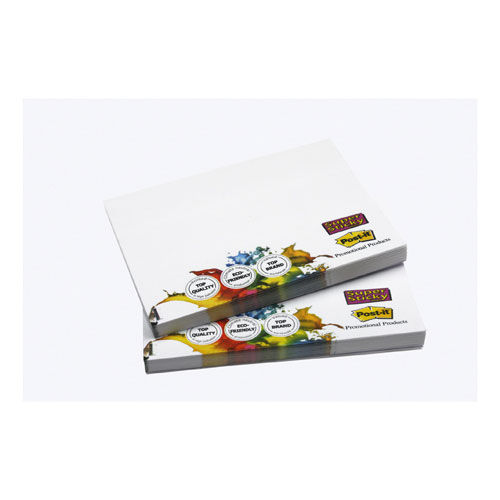 Bedruckte Post-it® Notes 68.00 x 74.50 mm 6/0 fbg. (Super Sticky weiß) (Art.-Nr. CA037269)