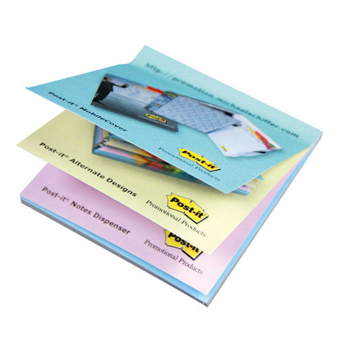 Wechselnd bedruckte Post-it® Notes 102.00 x 74.50 mm 4/0 fbg. (weiß) (Art.-Nr. CA377379)