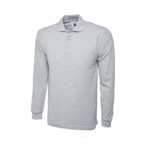 Longsleeve Poloshirt [4XL] (heather grey) (Art.-Nr. CA011691)