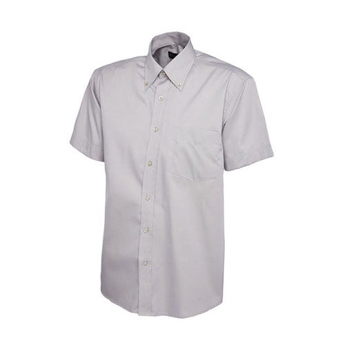 Mens Pinpoint Oxford Half Sleeve Shirt [S] (Silver Grey) (Art.-Nr. CA423284)