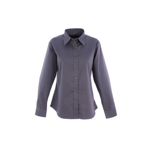 Ladies Pinpoint Oxford Full Sleeve Shirt [L] (Charcoal) (Art.-Nr. CA428499)