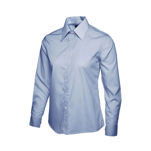Ladies Poplin Full Sleeve Shirt [3XL] (Light Blue) (Art.-Nr. CA432868)