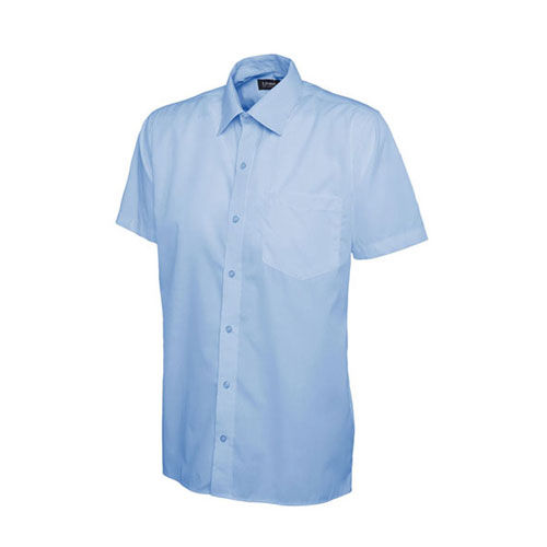 Mens Poplin Half Sleeve Shirt [XL] (Light Blue) (Art.-Nr. CA433435)