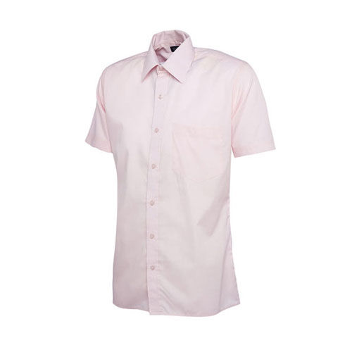 Mens Poplin Half Sleeve Shirt [XL] (pink) (Art.-Nr. CA433581)