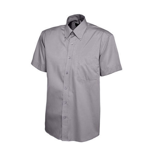 Mens Pinpoint Oxford Half Sleeve Shirt [3XL] (Charcoal) (Art.-Nr. CA433989)