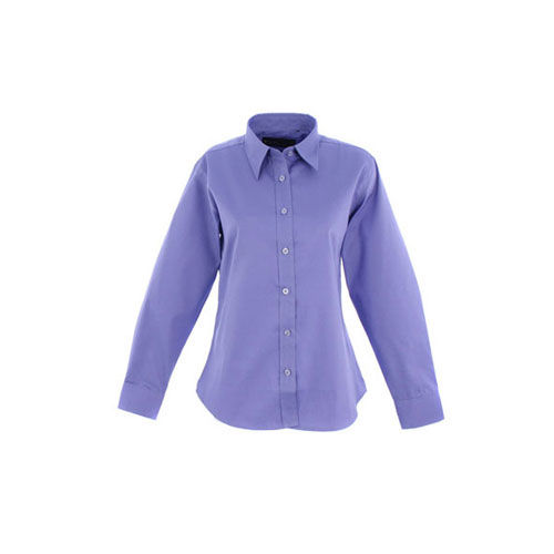 Ladies Pinpoint Oxford Full Sleeve Shirt [2XL] (Mid Blue) (Art.-Nr. CA442645)
