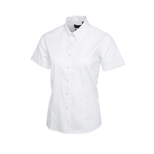 Ladies Pinpoint Oxford Half Sleeve Shirt [M] (white) (Art.-Nr. CA443351)