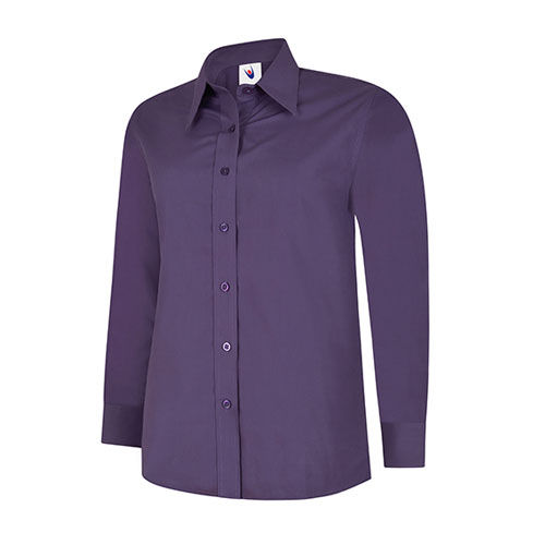 Ladies Poplin Full Sleeve Shirt [S] (Purple) (Art.-Nr. CA446331)