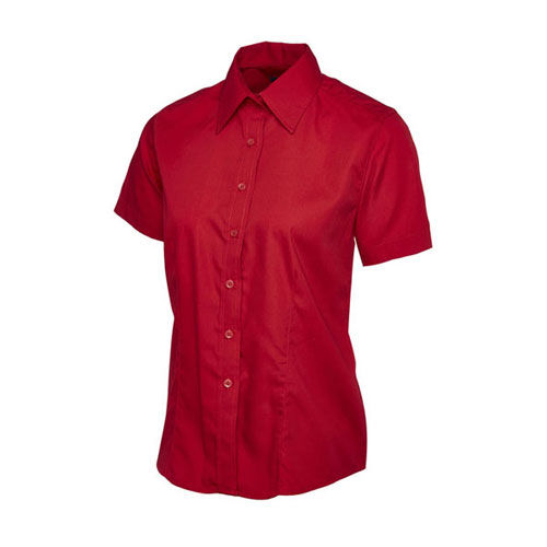 Ladies Poplin Half Sleeve Shirt [3XL] (Art.-Nr. CA457945)